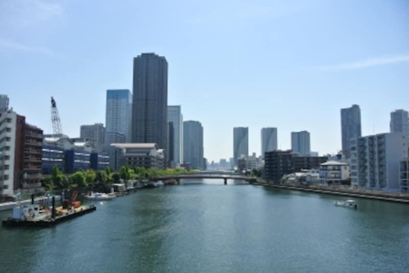 朝潮大橋からの景色