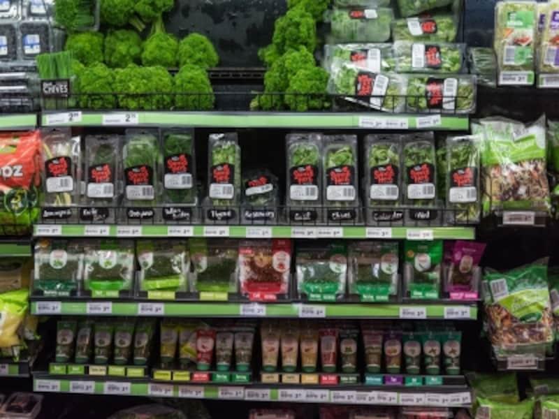 小分けされて売られる野菜の数々