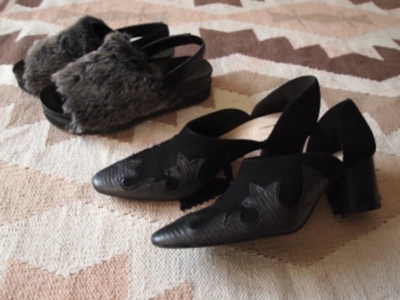 ごく普通なヒール靴よりもちょっとデザインがある方がオシャレ見えします
