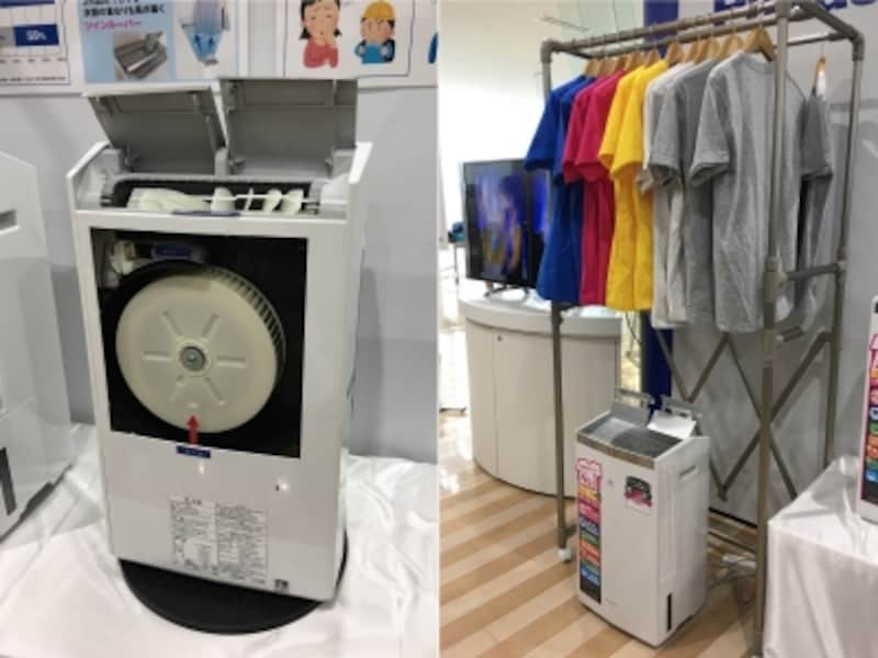 新搭載された2つの大きな「ツインルーバー」が洗濯物を効率よく乾かす