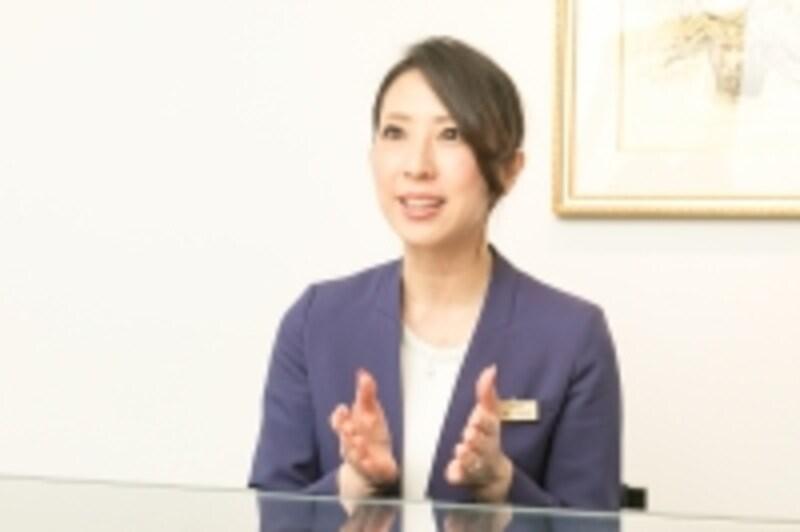 ダイヤモンドシライシ銀座本店店長の大坪えりさん
