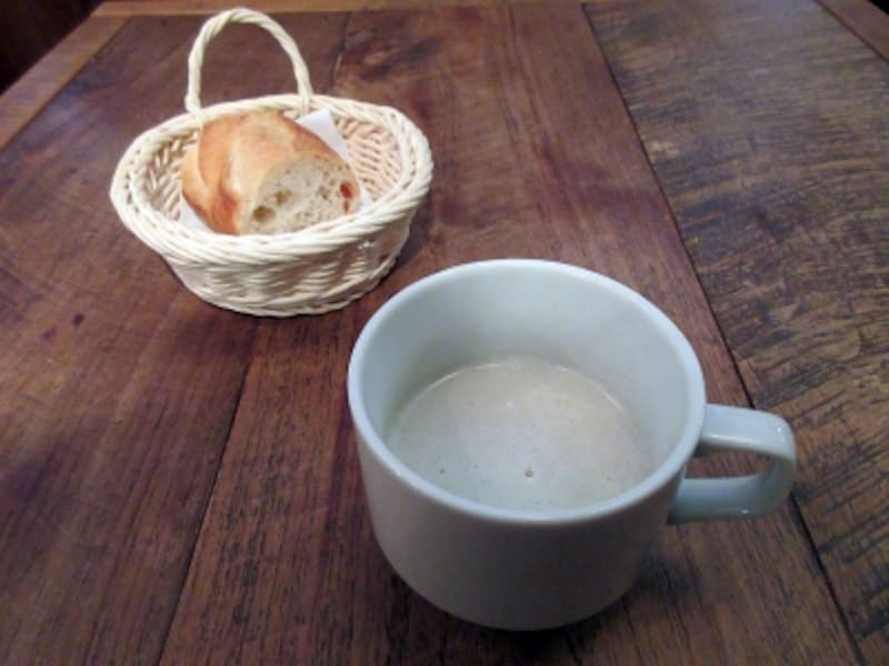 ルビストロパンとスープ