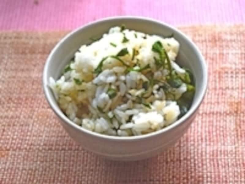 こしあぶら(濾油/コシアブラ)の混ぜご飯の画像