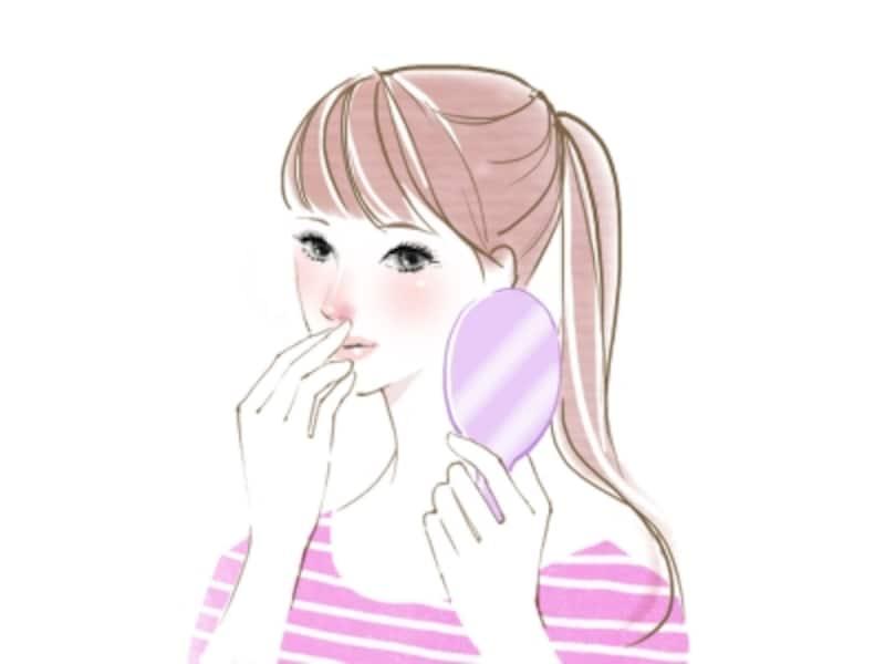 小鼻の赤みの原因とスキンケア
