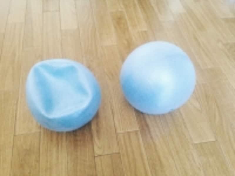 100均エクサ!スモールボールは空気を抜いて使います