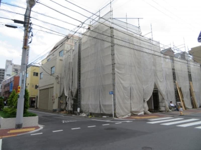 マンション建設現場