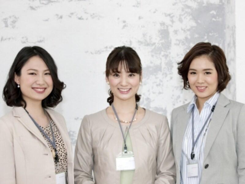 三人の働く女性