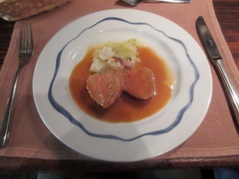 ル・クープ・シュー(LeCoupChou)ポークフィレ肉のローストシェリービネガーソース