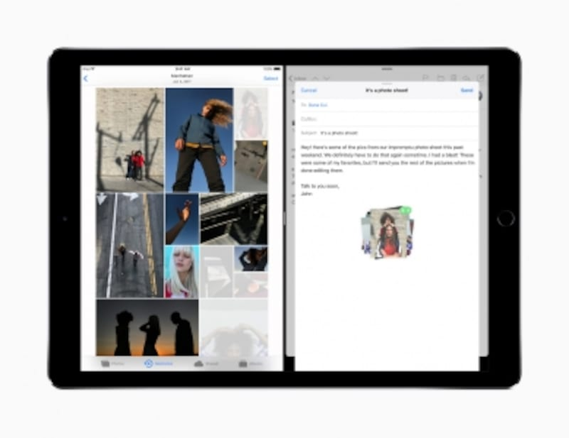 iOS11で、ドラッグ&ドロップの操作が追加された