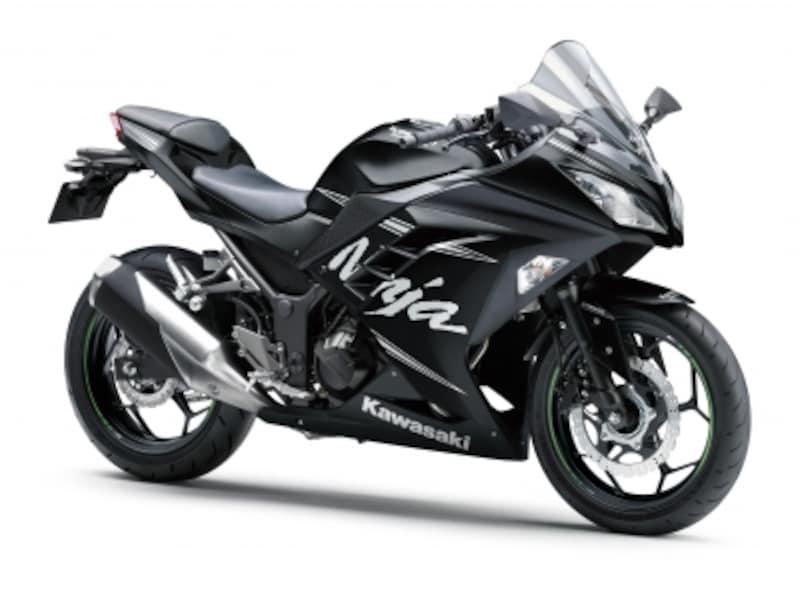 他の250ccスポーツモデルは55万円前後。写真はカワサキ・ニンジャ250