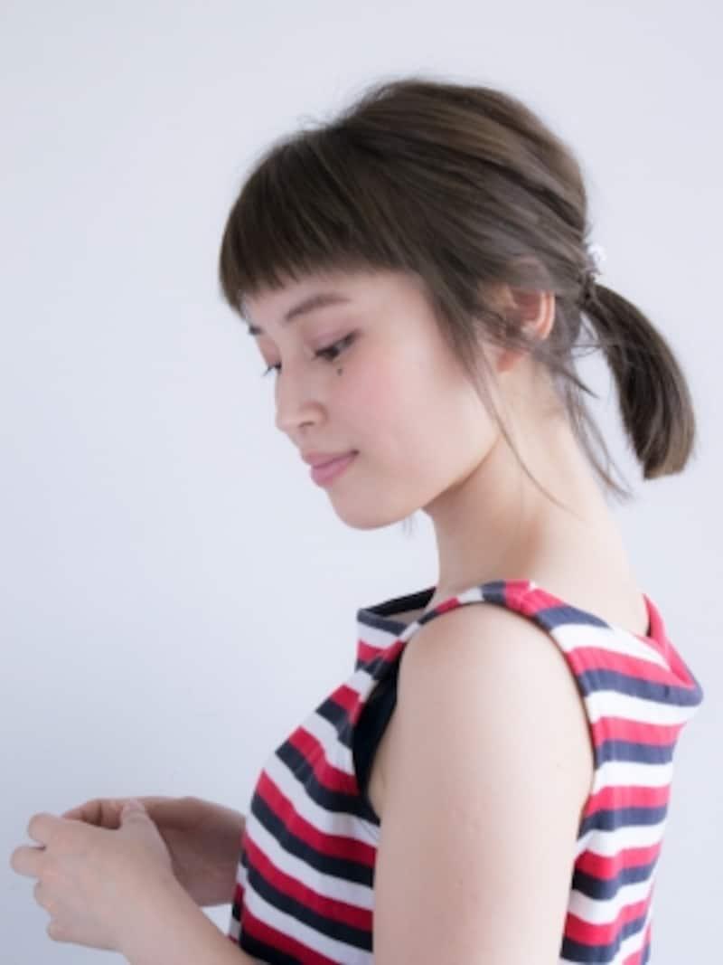 紫外線から髪を守る簡単ひとつ結び