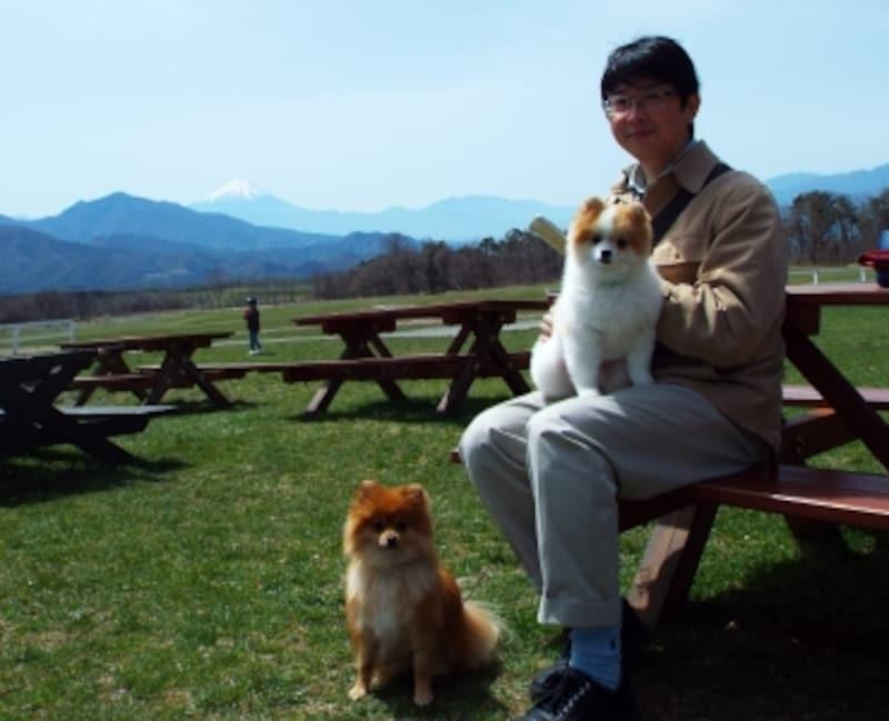 ガイド平野家も愛犬レゴ&ベルとドライブをしました。