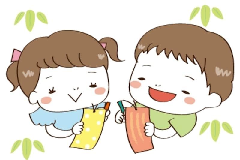 短冊 七夕 イラスト カラー かわいい
