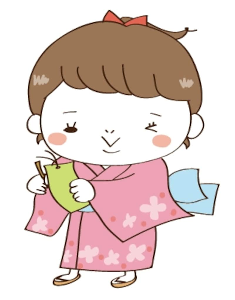 女の子 七夕 イラスト カラー かわいい