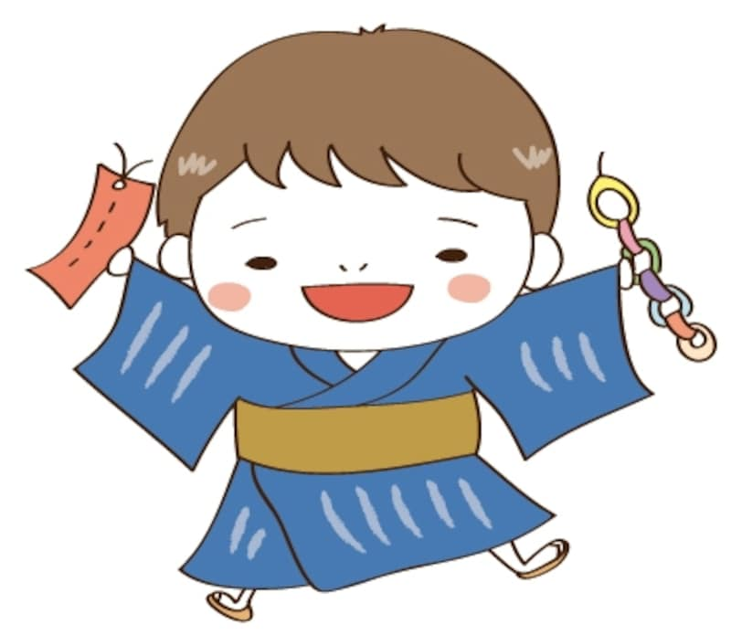 男の子 七夕 イラスト カラー かわいい