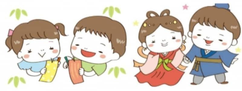 七夕 イラスト かわいい 無料 手書き