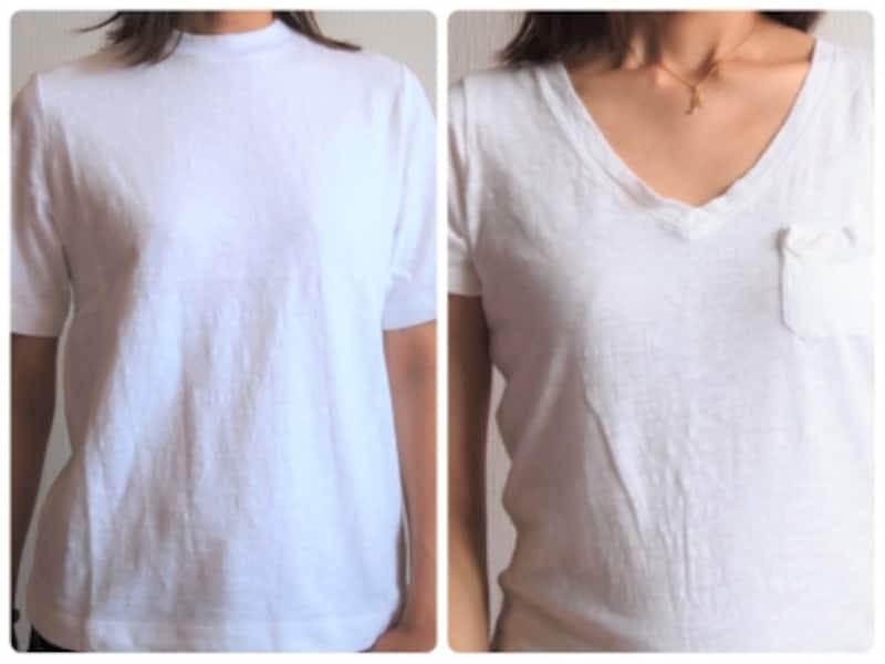 白Tシャツでも選び方で印象が変わります