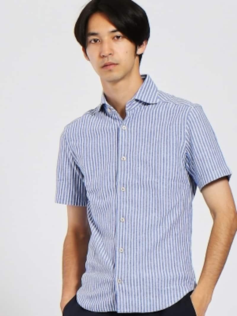 ストライプ柄シャツ