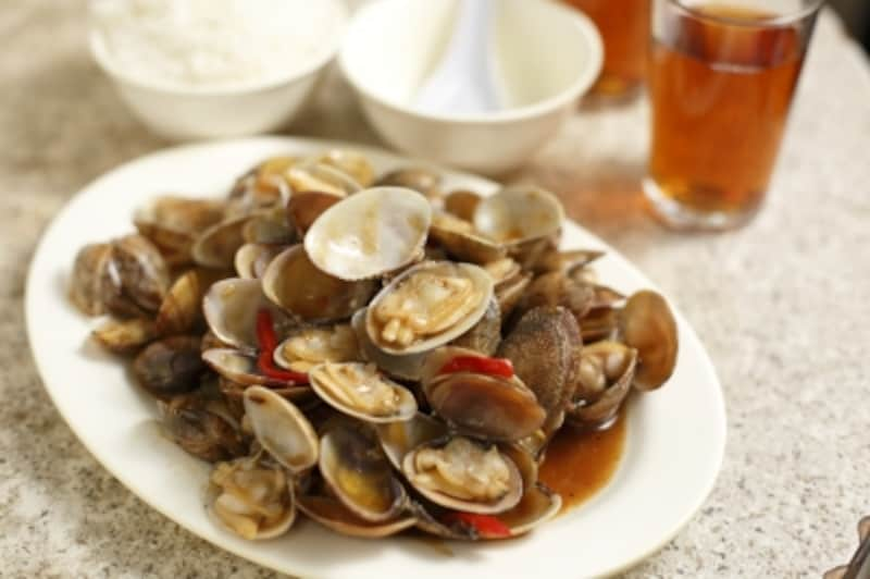 ●椒炒蜆(※●は「豆」偏に「支」●は「豆」偏に「支」)
