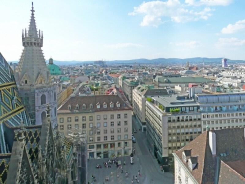 世界遺産「ウィーン歴史地区」、シュテファン寺院からの眺め