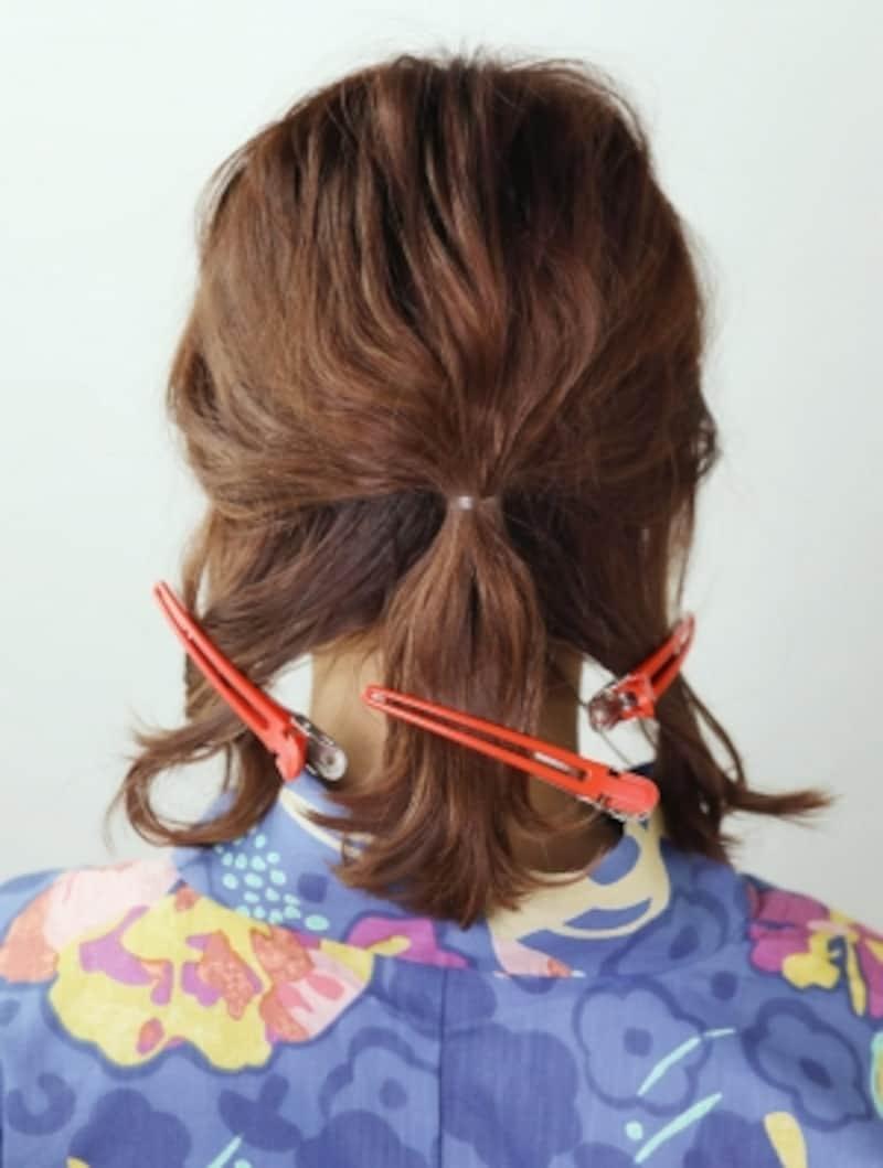左右の髪は等分する