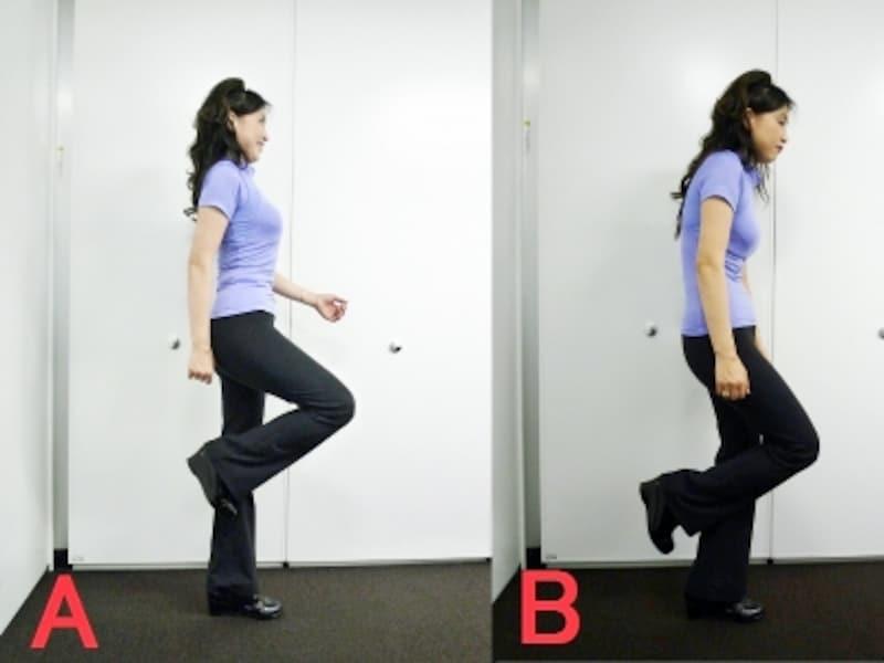 歩幅は全身で作るもの。どちらの姿勢が正しいかわかりますか?