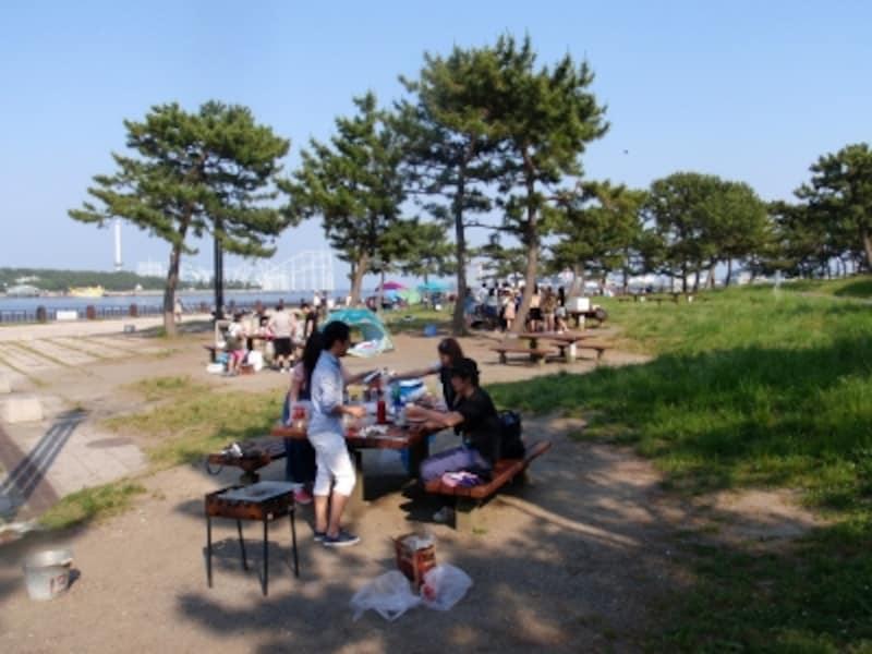横浜で唯一の海水浴場を持つ、海の公園でBBQを(画像提供:横濱グリル)