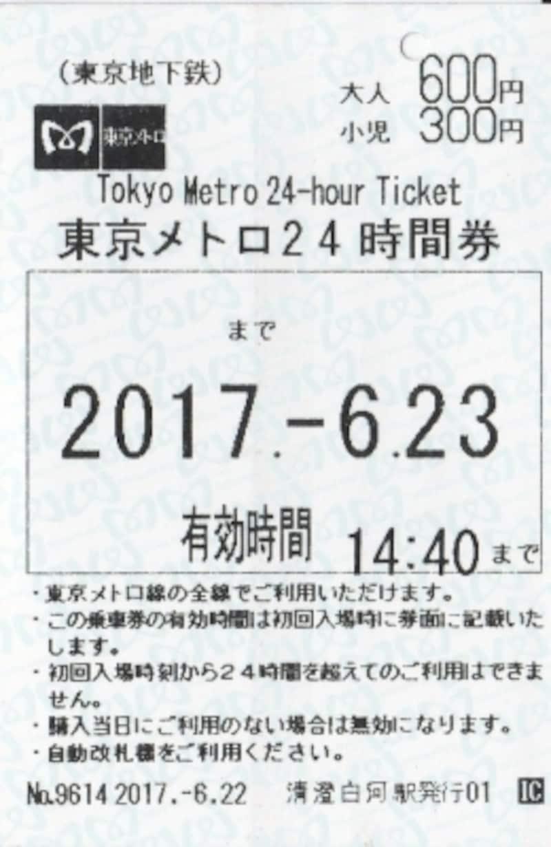 24時間券(当日券)