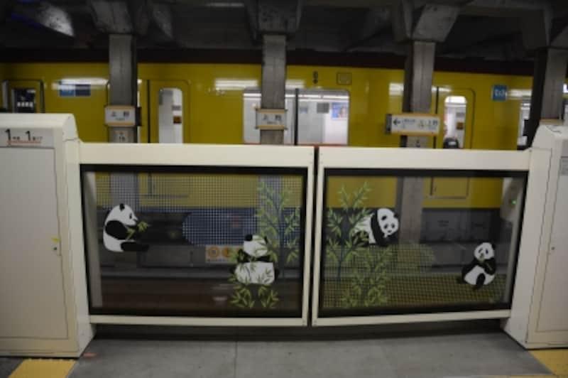 銀座線上野駅のホームドア