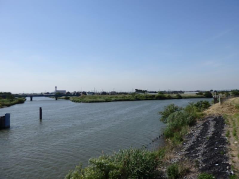 吉川市西部を流れる中川
