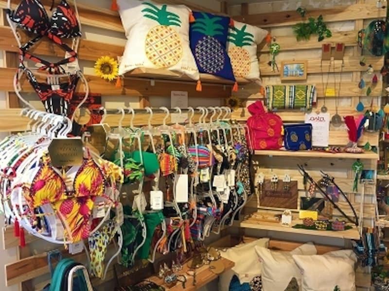 SORTEの店内。水着の他、ハンドメイド雑貨など可愛いものが一杯(画像:SORTEBrazil提供)