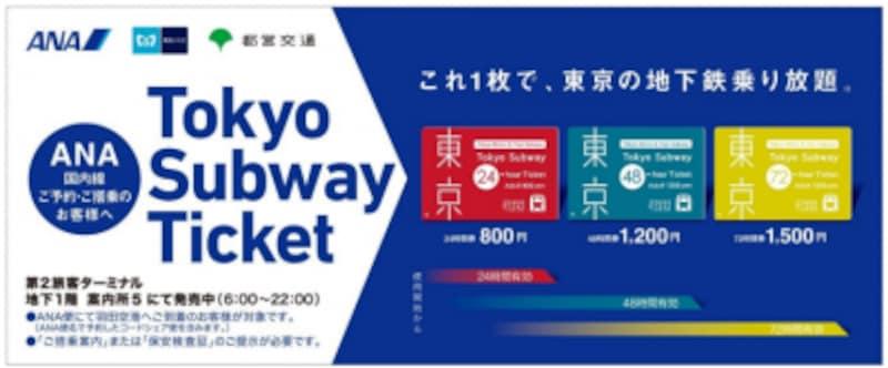 ANA国内利用者向けTokyo Subway Ticket発売の広告