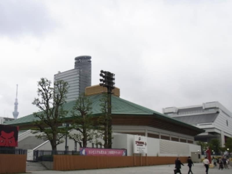 両国国技館の隣にある江戸東京博物館
