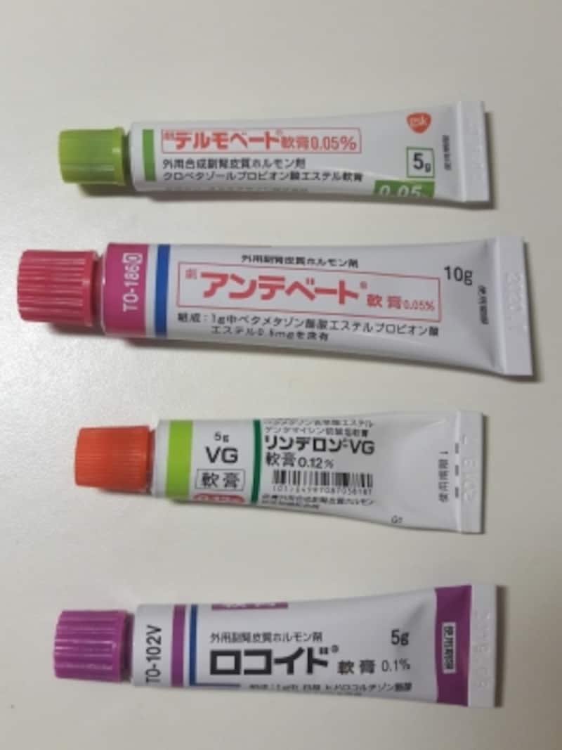 ステロイド処方薬の種類