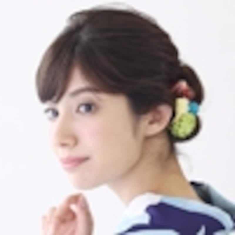 浴衣姿に似合う髪型・ロング