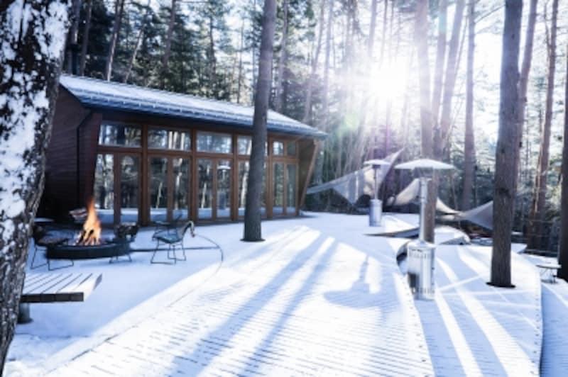 朝は日差しが雪に反射し格別な景色も