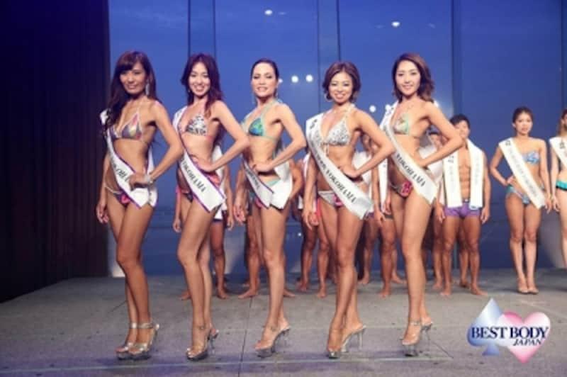 ベストボディ・ジャパン2017神奈川県大会受賞者(REIKAさんは一番左)