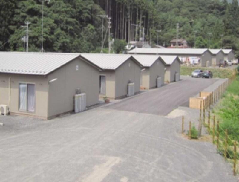 DSパネルを使用した仮設住宅