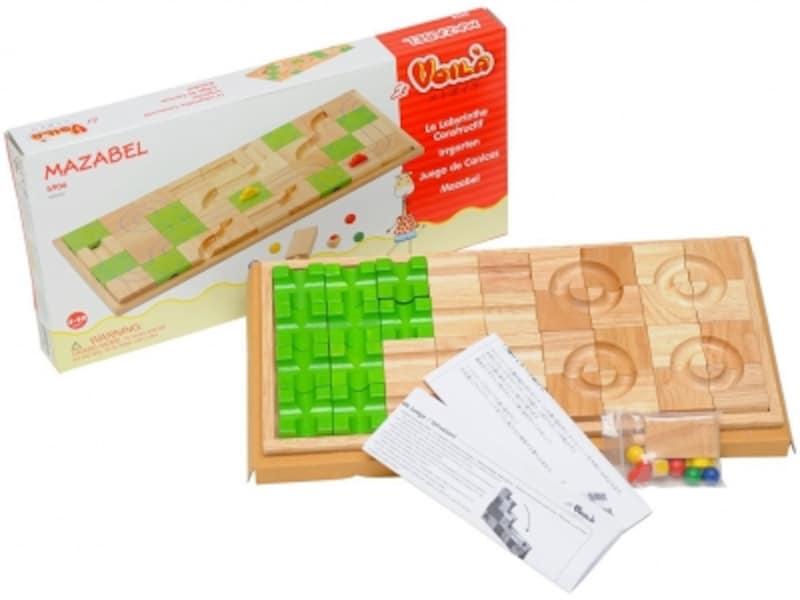 2D迷路も3D玉の道もできる木のおもちゃ