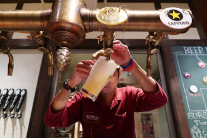 注ぎ手のこだわりもビールを美味しくします