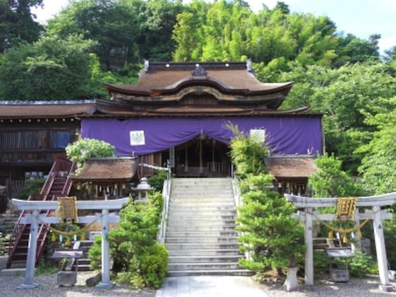 都久夫須麻神社の本殿(国宝)