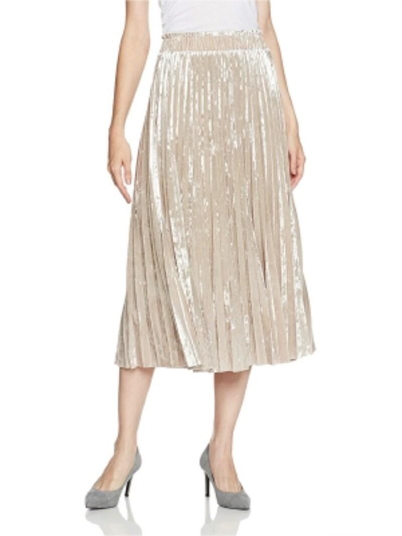 (グレースコンチネンタル)GRACECONTINENTALベロアプリーツスカート