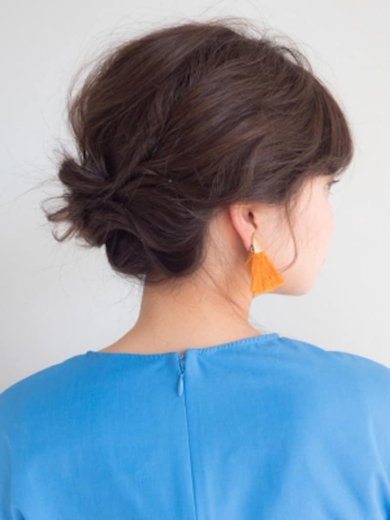結婚式もOK!切りっぱなしボブのセルフヘアアレンジ