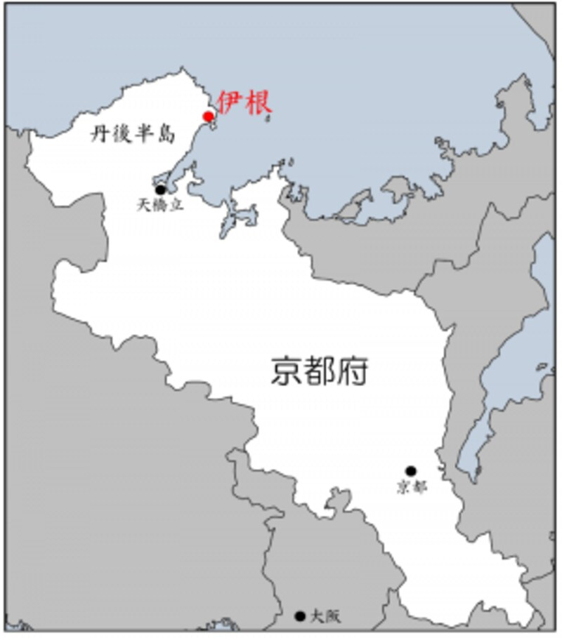 伊根の位置を示す地図