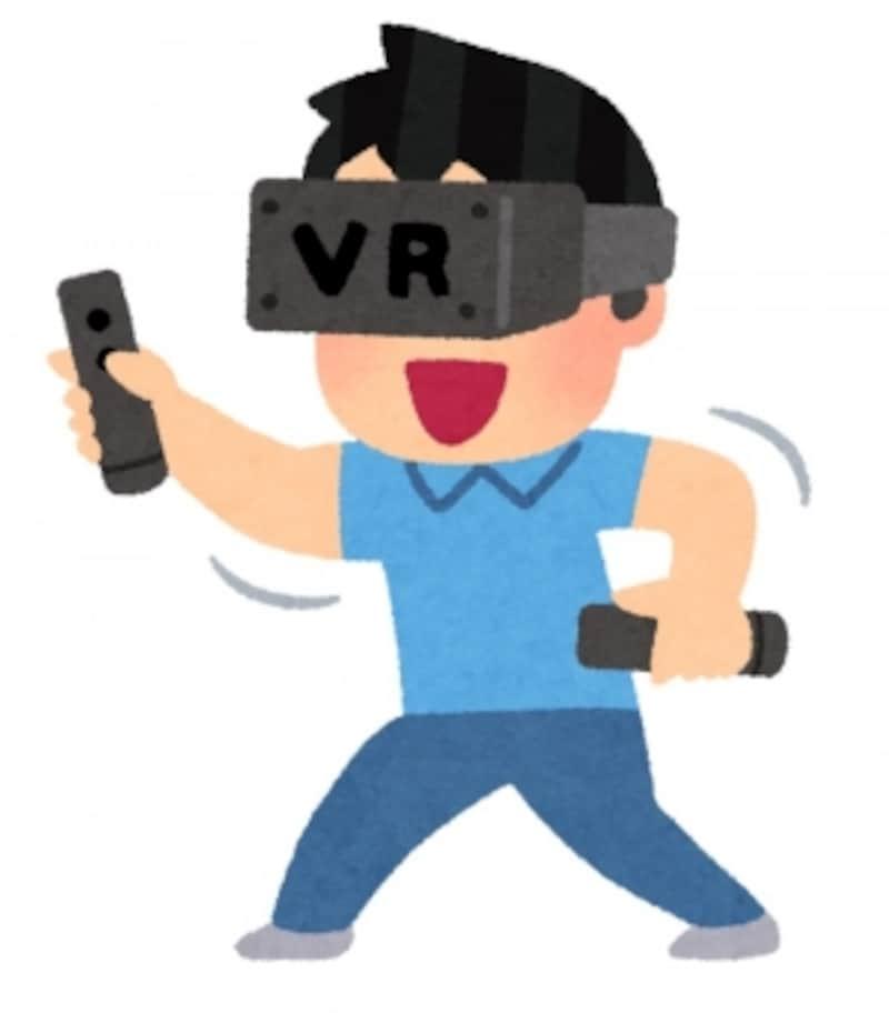 VRコンテンツを楽しむ機器にも復数の種類があります