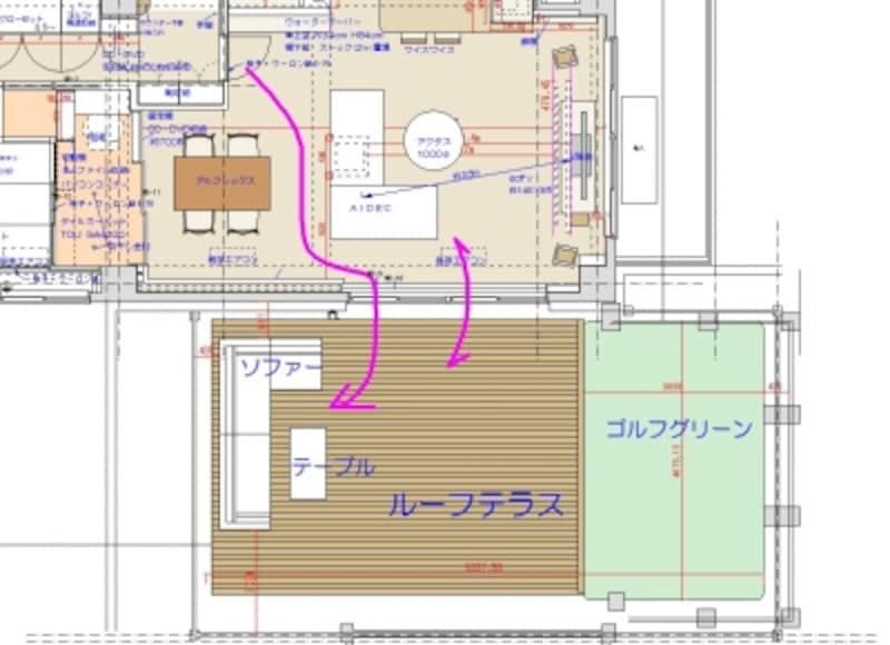 動線視線を注意しスペースに合わせて家具選定
