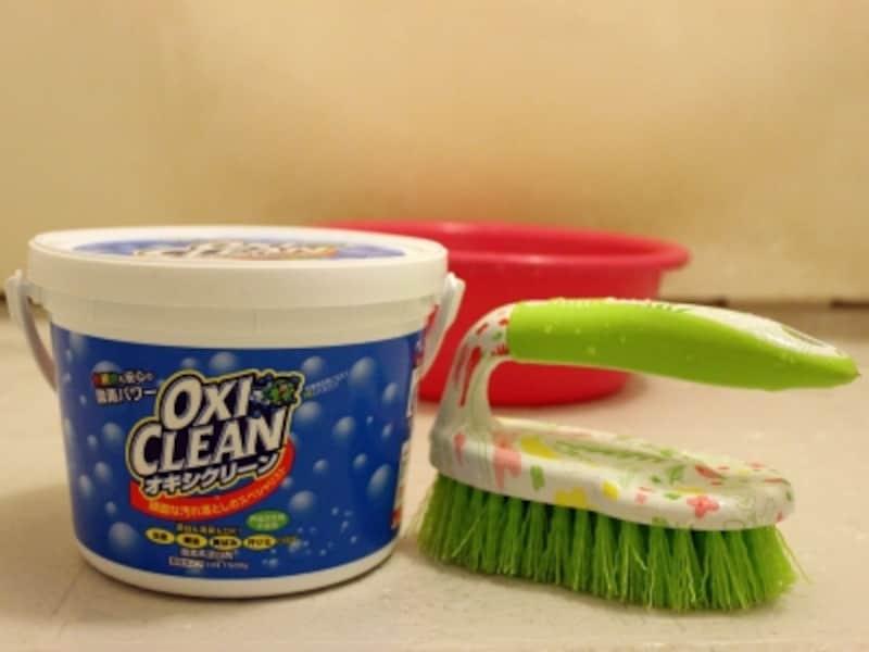 オキシクリーンはさまざまな場所に使えるので、とても便利!洗濯機も風呂の床もピカピカに