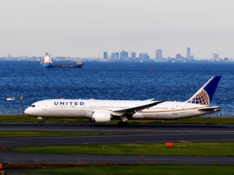 ユナイテッド,飛行機,羽田空港,787