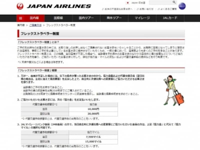 JAL,フレックストラベラー制度,オーバーブッキング