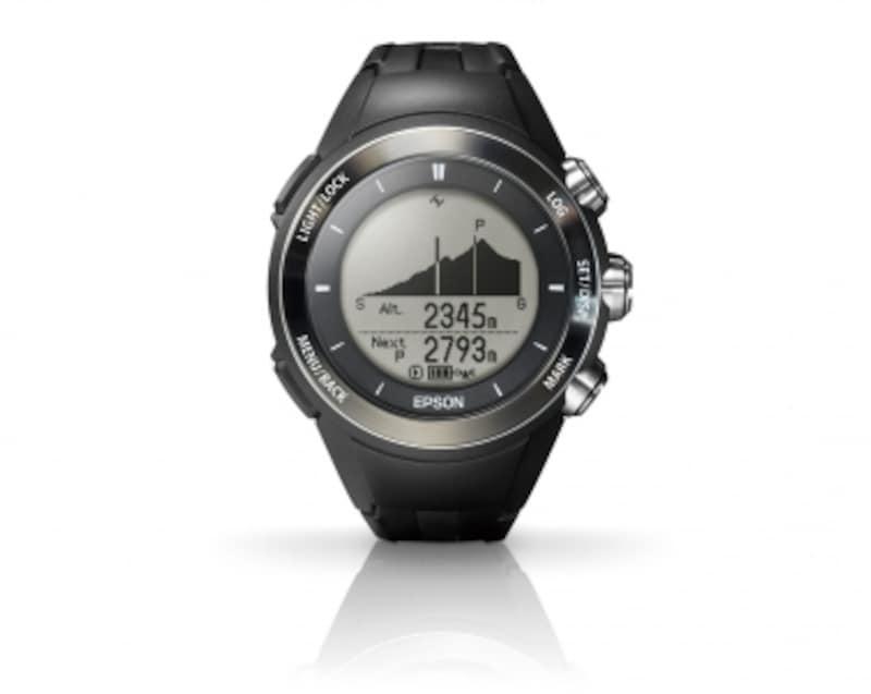 WristableGPS「GPSトレッキングウォッチMZ-500B」\49,800(直販税抜き価格)undefinedケース径47mm、重量約65g、10気圧防水、充電式リチウムイオン